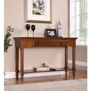 Single-drawer Chestnut Console Table
