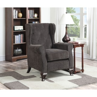 Carolyn Storm Dark Brown Button-tufted Accent Chair