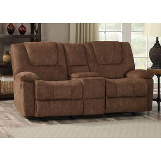 Joseph Smooth Pecan Glider Reclining Loveseat