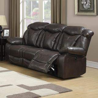 Otto Brown Leather Air Reclining Sofa