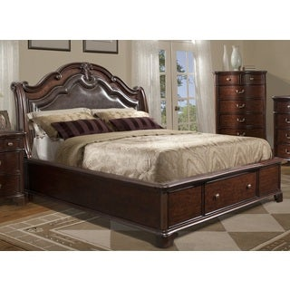 Trento Storage Bed with Faux Leather Padded Headboard