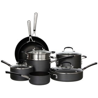 Sale Simply Calphalon 12 Piece Cookware Set Babgntnfd