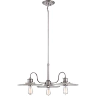 Admiral 3-light Antique Nickel Dinette Chandelier