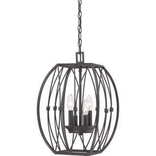 Quoizel Regina Imperial Bronze 4-light Cage Chandelier