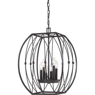 Quoizel Regina Imperial Bronze 6-light Cage Chandelier