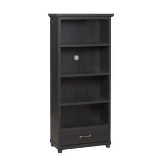 Dark Espresso 4-shelf Bookcase with Drawer