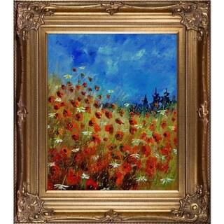 Pol Ledent 'Poppies 672121' Framed Print Art
