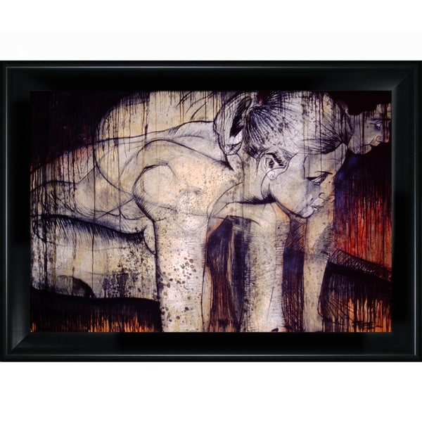 Jeffery Pierson 'Pushing Free' Framed Print Art