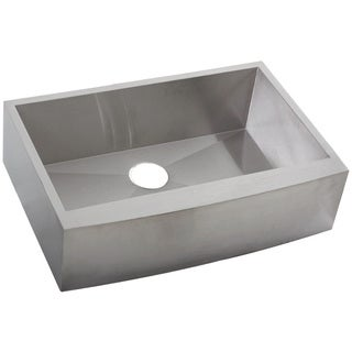 Ticor 4402BG 33-inch Stainless Steel 16 Gauge Undermount Curved Front Single Bowl Apron Farmhouse Kitchen Sink