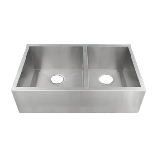 Ticor 4404BG 33-inch Stainless Steel 16-gauge Undermount Double Bowl Farmhouse Apron Kitchen Sink