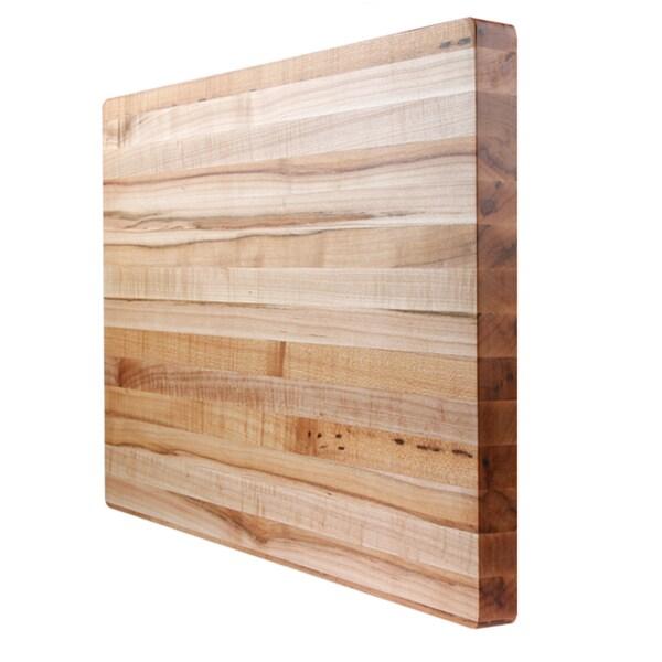 1.5-inch Square Kobi Blocks Premium Maple Edge Grain Wood Butcher Block Cutting Board