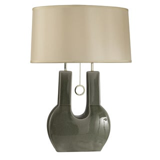 Nova Lighting Emperor Grey U-shaped 1-light Table Lamp