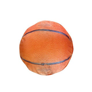 Round Orange Basketball Medium Dog Bed
