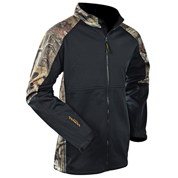 Yukon Gear Windproof Soft Shell Mossy Oak Winter/ Black Jacket