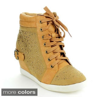 Via Pinky Women's 'Paulina-03' Rhinestone-studded Wedge Sneakers
