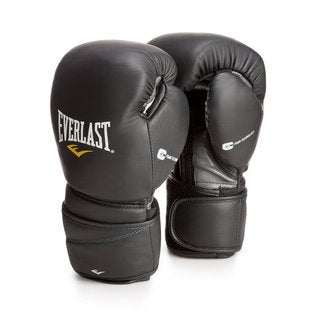 Everlast Black ProTex2 Leather Training Gloves