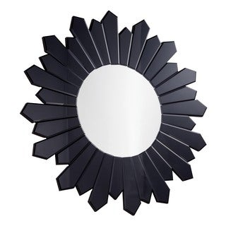 Christopher Knight Home Black Starburst Round Mirror