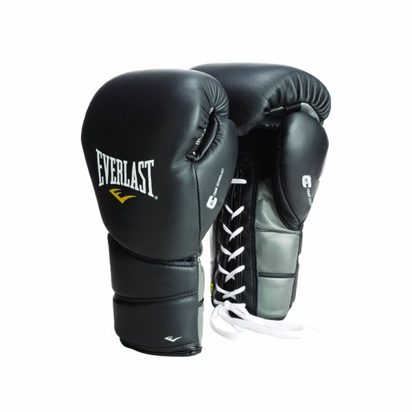 Everlast Black Lace ProTex2 Leather Training Gloves