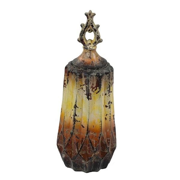Vintage Yellow Large Ceramic Vase