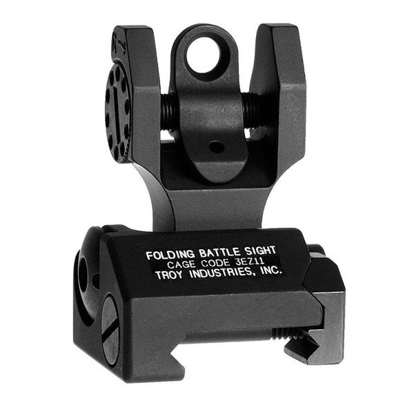 Troy Industries Black Rear Folding Battle Sight
