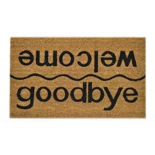 Welcome/ Goodbye Natural Coir Doormat