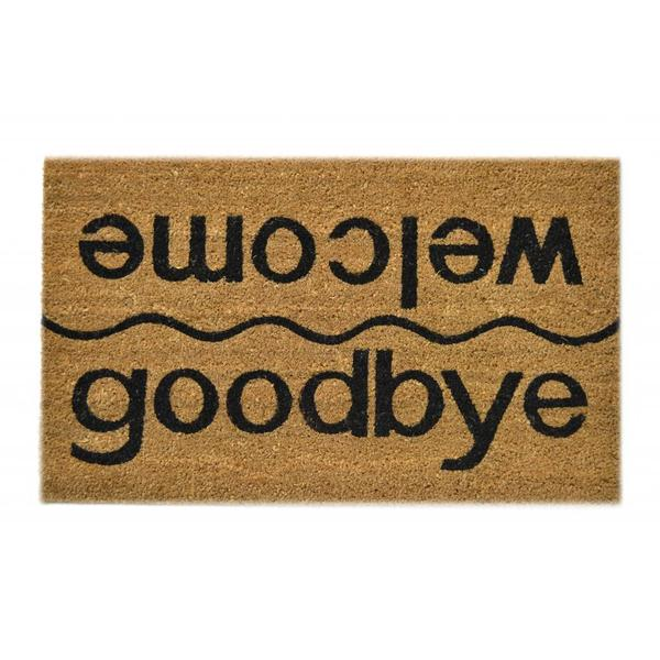 Welcome/ Goodbye Natural Coir Doormat