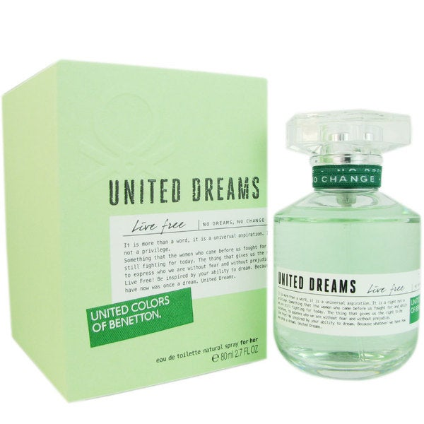 Benetton United Dreams Live Free Women's 2.7-ounce Eau de Toilette Spray