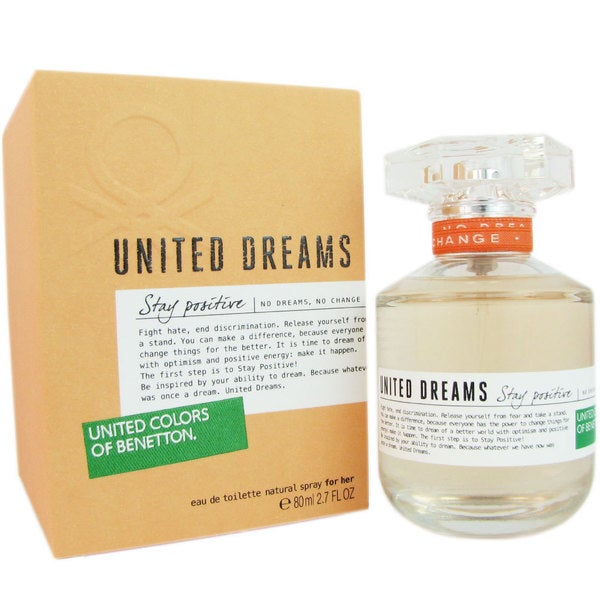 Benetton United Dreams Stay Positive Women's 2.7-ounce Eau de Toilette Spray