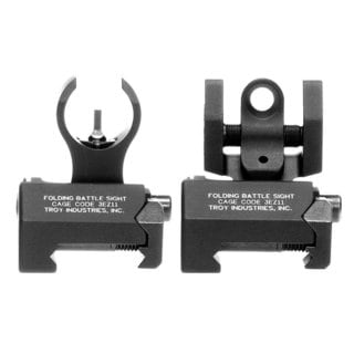 Troy Industries Micro HK Front and Rear Folding Sights Black