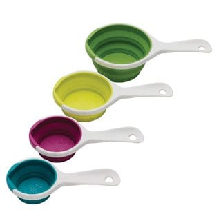 Chef'n 102-250-095 SleekStor Pinch Pour Collapsible Measuring Cups, Trend Colors