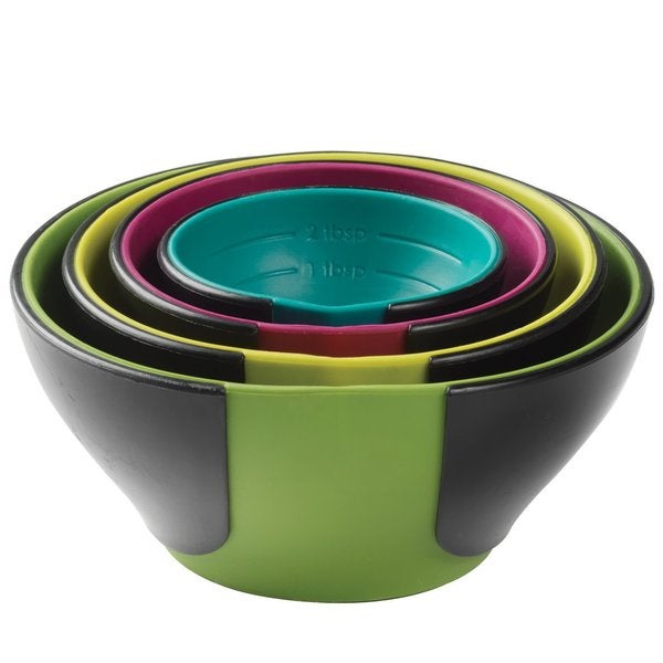 Chef'n 102-253-095 SleekStor Pinch Pour Prep Bowls, Trend Color Set