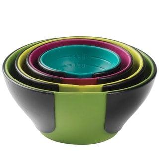 Chef'n 102-253-095 SleekStor Pinch Pour Prep Bowls, Trend Color Set
