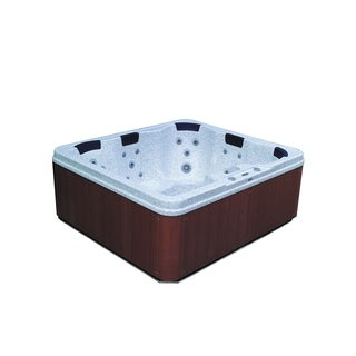 Aston 5-Person 32-Jet Dual Insulated Hot Tub Spa with Lounger in Sahara