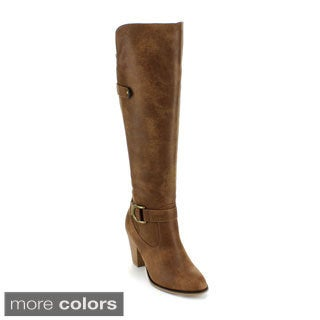 Forever Women's 'Camila-44' Knee-high Low-heel Riding Boots