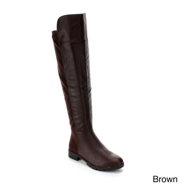 Forever Women's 'Fifty-50-1' Over-the-Knee Slick Riding Boots
