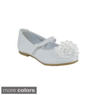 Little Angel Girls 'Enna-519D' Beaded Ballet Flats