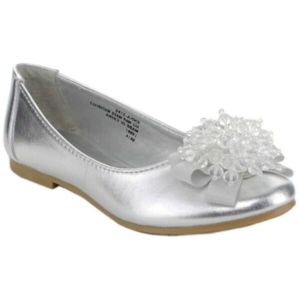 Little Angel Girls 'Enna-519E' Beaded Ballet Flats