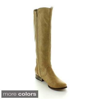 Machi Women's 'Dalton-1' Side Zipper Knee-high Riding Boots