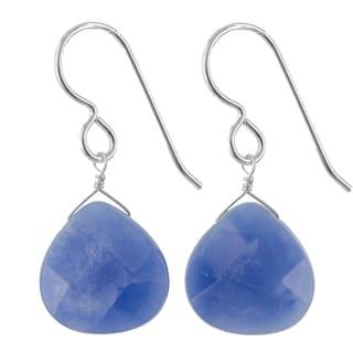 Ashanti Sterling Silver Kyanite Gemstone Handmade Earrings (Sri Lanka)
