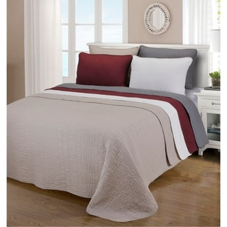 McKinley Cobblestone Cotton 3-piece Quilt Set