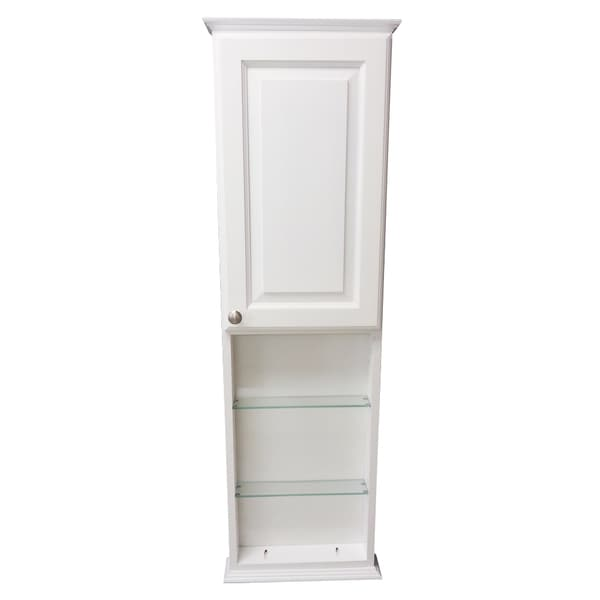 on the wall cabinet with 18 inch open shelf deep inside