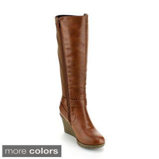 Forever Women's 'Jessy-33' Knee-high Wedge Boots