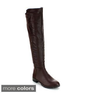 Forever Women's 'Fifty-50-8' Over-the-Knee Slick Riding Boots
