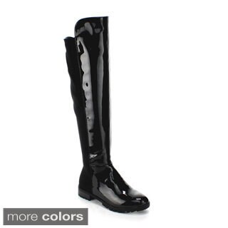 Forever Women's 'Fifty-50-4' Over-the-Knee Slick Riding Boots
