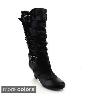 Forever Women's 'Maggie-39' Kitten Heel Knee-high Boots