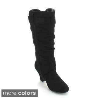 Forever Women's 'Maggie-38' Kitten Heel Knee-high Boots
