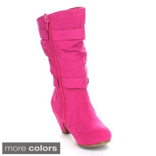 Jelly Beans Girls 'Valencia' Chunky Heel Knee-high Boots