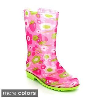 Jelly Beans Girls 'Sawa' Pink Jelly Knee-high Rain Boots