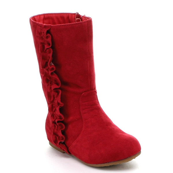 Jelly Beans Toddler Girls 'Kikomo' Vegan Suede Knee-high Boots