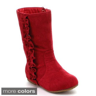 Jelly Beans Toddler Girls 'Kikomo' Vegan Suede Knee-high Boots